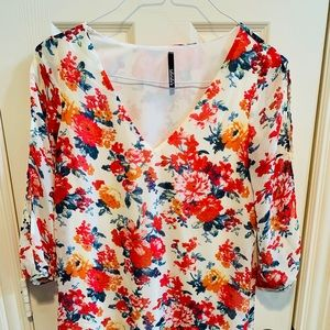 Floral Silk Dress! Worn Once!